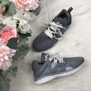 APL Grey Quilted Ascend Sneakers Size 9 EUC